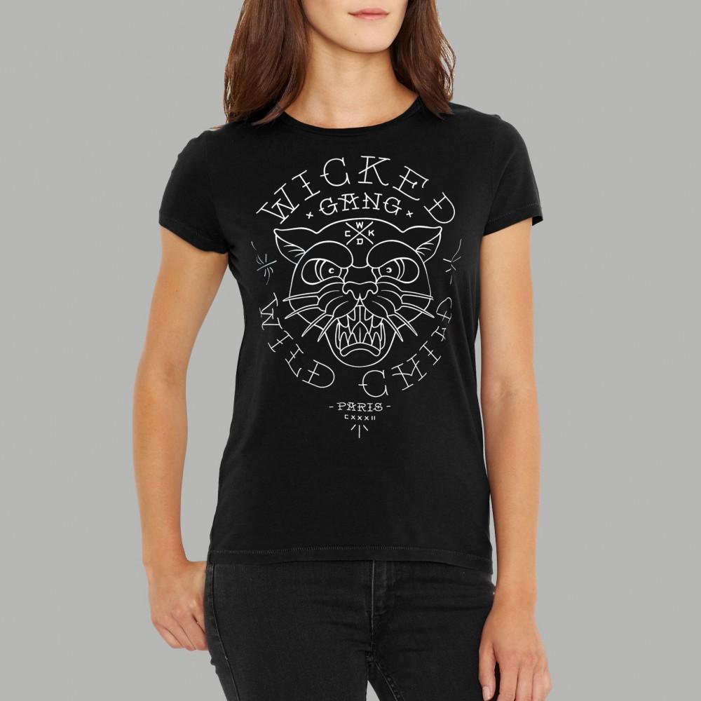T-shirt Wild Child Noir