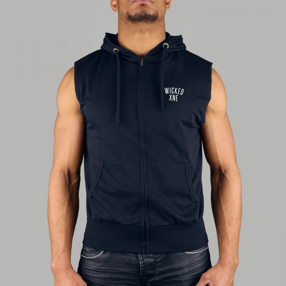 Sweat Sans Manche Navy