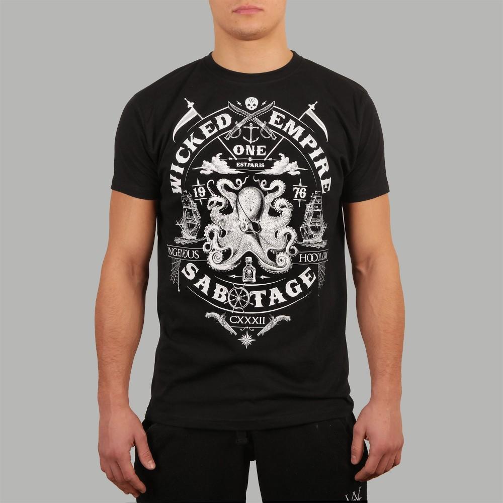 T-shirt Sabotage Noir
