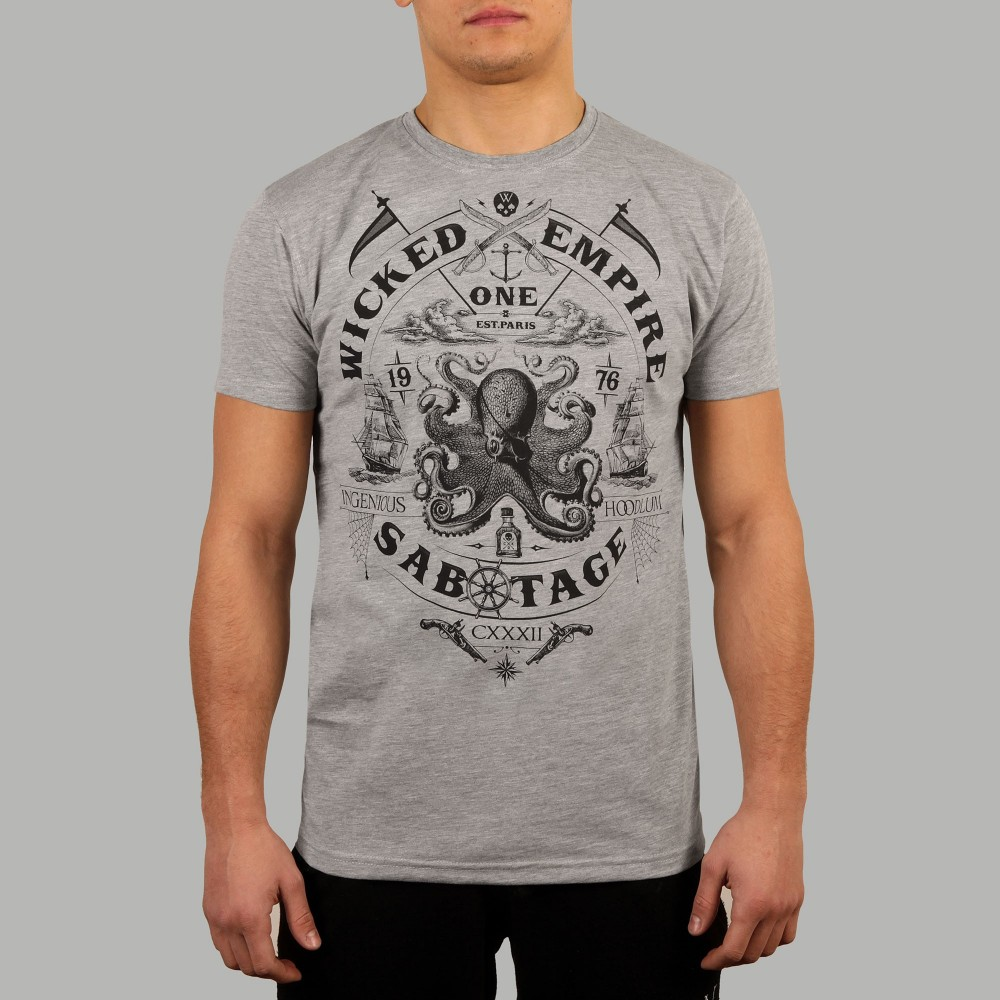 T-shirt Sabotage Gris