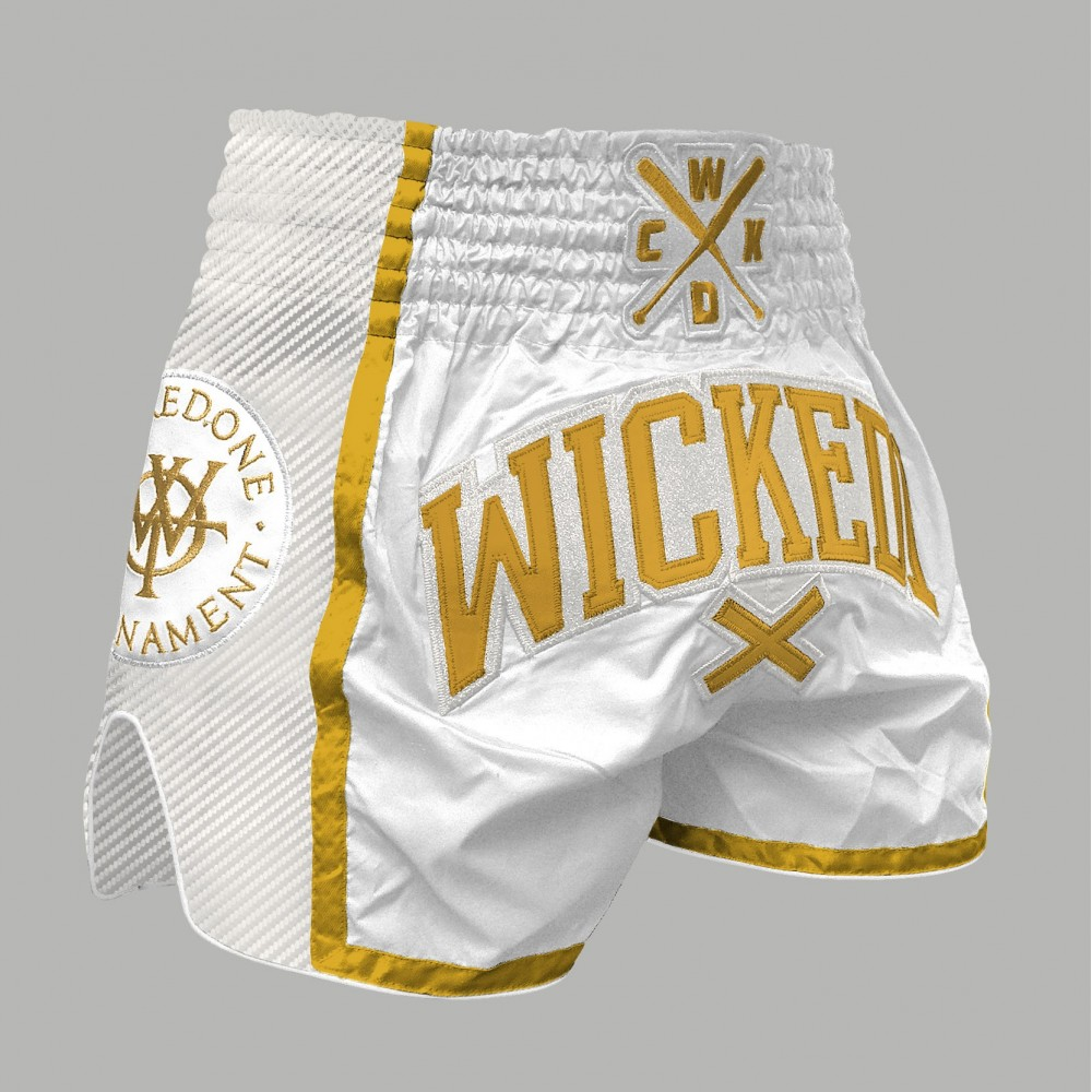 MUAYTHAI SHORT WOT White/Gold