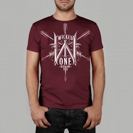 T-shirt Arrow Burgundy