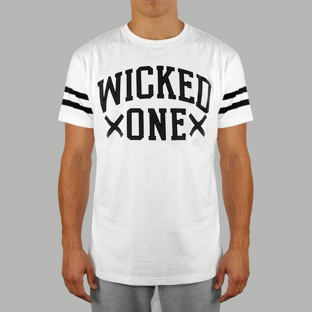 T-shirt Quaterback Blanc
