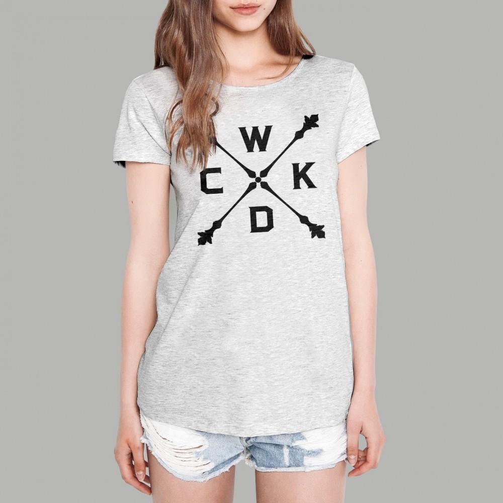 T-shirt Last Queen Gris